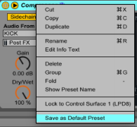 To help with recycling tracks into fresh new music, save all your synths and effects as presets for later use.