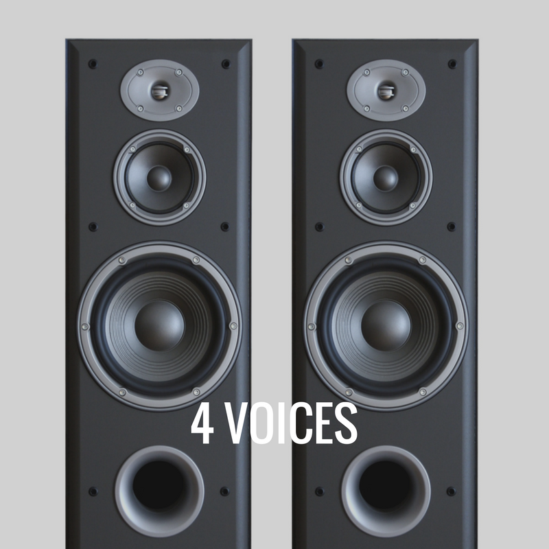 four voices sound system