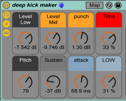 Pheek deepkick maker, kick maker, deep kick, kick drum machine, analog