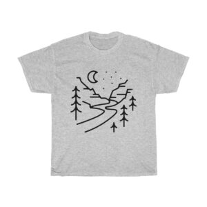 Forests and Rivers Unisex Heavy Cotton Tee