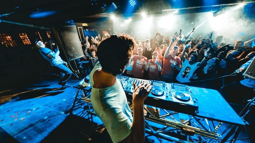 A photo of a DJ touring