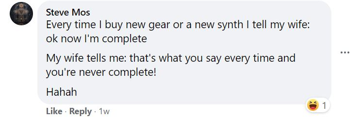 A Facebook post of how Steve learns how to have fun making music.