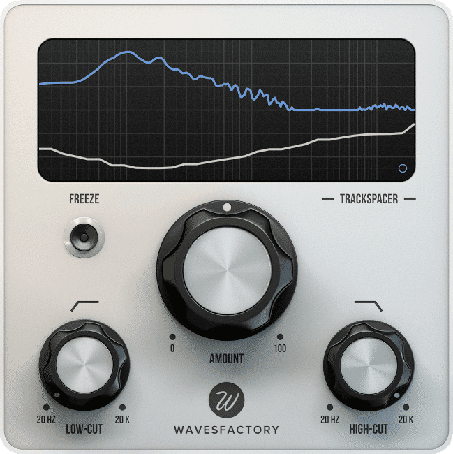 A photo of Wavefactory's trackspacer, which allows you to have some of the best equalizer settings for electronic music without the hassle.