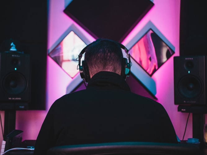 A photo of someone listening to a track. Don't listen to your track too much or else you might love your track artificially.