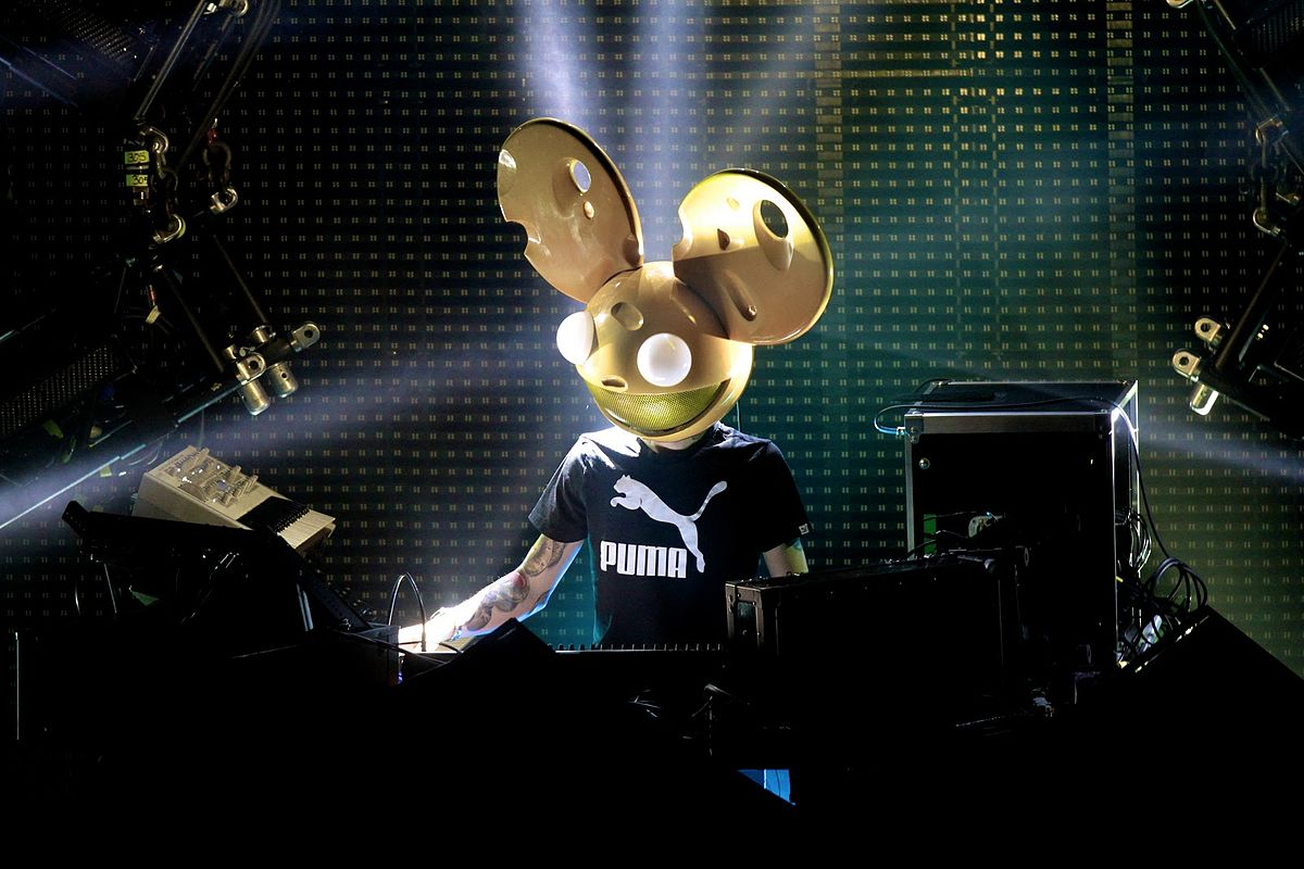 A photo of Deadmau5, who understands that his love for his tracks can often be misguided.