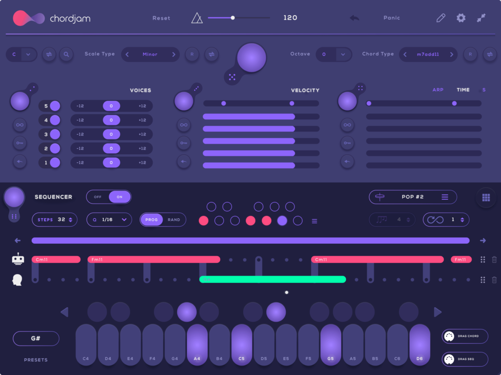 This image is of Chordjam by Audiomodern. It's an excellent generative sequencer for chords, specifically.