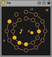 A photo of the sequencer, Tie, by Encoderaudio. It has fantastic generative capabilities.